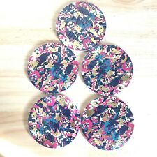 Coasters Set Lot Abstract Design Disposable New Tableware Dinner Party Round