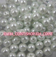 Z003 white Glass Pearl Round Spacer Loose Beads 4/6/8/10mm DIY Wholesale