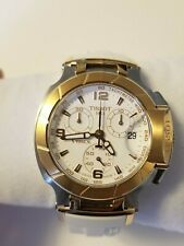 New in Box Tissot T-Race Two Tone Chronograph Stainless Steel White Rubber Strap