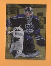 1999-00 Be A Player Millennium SIGNATURES GOLD #123 Jamie Storr LA KINGS GOALIE