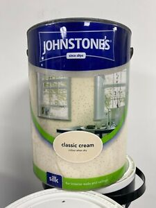 Johnstones Classic Cream Silk Emulsion 5L Walls & Ceilings