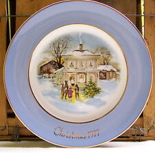 "Avon 1977 Christmas Plate ""Carollers In The Snow"" Fifth Edition Wedgwood"