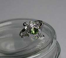 Harry Hogwarts slytherin House Ring green crystal silver Horcrux Draco Voldemort