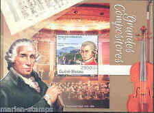 GUINEA BISSAU 2012 WOLGANG AMADEUS MOZART S/S FIRST DAY COVER