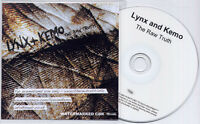 LYNX & KEMO The Raw Truth 2009 UK NUMBERED 15-trk promo test CD
