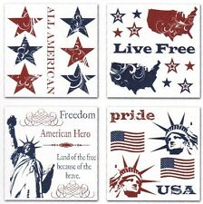 Creative Imaginations ~LIBERTY July 4th~ Holiday Rub-Ons Swatch Pack NEW!