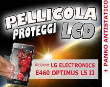 Pellicola protezione LCD display per LG E460 OPTIMUS L5 II + PANNO ANTISTATICO