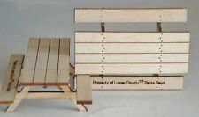 """2 WOOD  BENCHES 2"""" LONG X 1 1/2"""" DEEP X  3/4"""" TALL SPECCAST"""