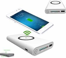 Power Bank 2 in 1 caricatore Wireless senza fili Qi led 8000mAh carica batteria