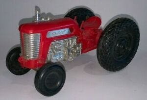Vintage Plastic, Gay Toys, RED FARM TRACTOR (7-1/2 Inches Long)