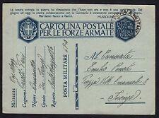 POSTA MILITARE 1941 Franchigia da PM 22 a Firenze (FMH)