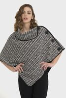 Joseph Ribkoff Asymmetric Tweed Cover Jacket Style 194830 One Size
