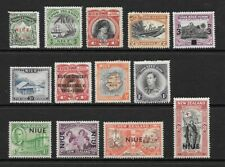 1911 King Edward VII to 1950  KGVI Collection of 13 stamps  Mint Hinged  NIEU