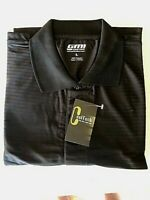 New NWT Mens Black XL Cool Tech Polyester Polo Style Golf Shirt