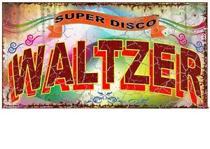 Waltzer Funfair Carnival Vintage Style Sign Waltzer Sign Vintage Fairground Sign