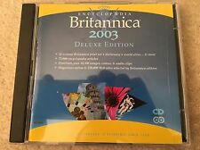 encyclopaedia britannica 2003 Deluxe Edition PC CD Rom - New - Education