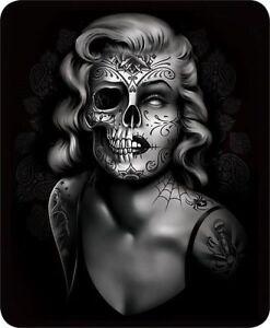 Queen Marilyn Monroe Zombie Creepy Sugar Skull Faux Fur Blanket Super Soft Plush