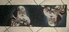 VTG Tapestry Christmas Santa Table Runner