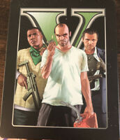 Grand Theft  Auto V GTA 5 STEELBOOK Edition PS3 PLAYSTATION 3. Manual & Map Inc.