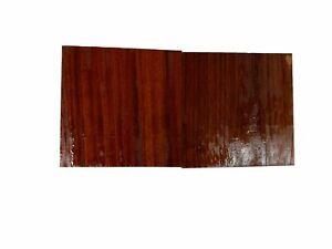 "2 Pack, Exotic Padauk Bowl Blank Lathe Turning Wood Blocks  5"" x 5"" x 2"", #87"