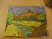 Original Vintage Oil Painting Signed Emory Impressionist Landscape