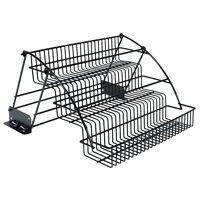 Rubbermaid Black 9-in Epoxy Coated Steel Wire In-Cabinet Shelf Mount Spice Rack
