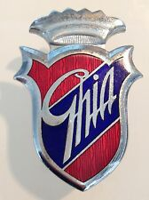 Ghia Insigne écusson logo emblème emblem badge pièce origine fiat 1500 GT 2300S