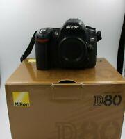 Fotocamera Nikon D80 reflex digitale macchina fotografica solo corpo con scatola