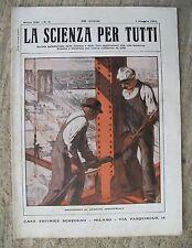 Rivista LA SCIENZA PER TUTTI N.9 1 Maggio 1914 Ed.Sonzogno