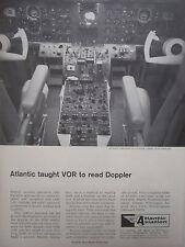6/1967 PUB ATLANTIC AVIATION AVIONICS GULFSTREAM PANEL DOPPLER ORIGINAL AD