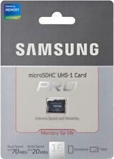 SAMSUNG MEMORY CARD 16GB MICRO SD UHS-1 PRO CLASS 10 Scheda Memoria MicroSDHC