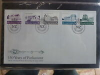 NEW ZEALAND 2004 150yrs PARLIMENT SET 5 STAMPS FDC FIRST DAY COVER