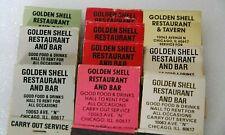 Golden Shell Restaurant Southside Chicago Frog Legs Gypsy Platter Matchbook