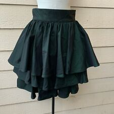 Jiki Monte Carlo Creations Ruffle Layered Short Skirt Cocktail Party Green 42