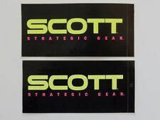 "2 NOS 1970s Scott Decals 3-1/2"" x 2"" dirt bike motorcycle AHRMA Vintage Goggles"