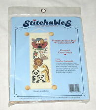 Stitchable Miniature 72020 Bell Pull Collection Cross Stitch Noah's Animals NEW