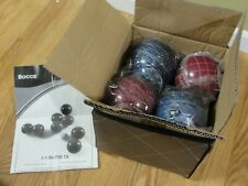 BOCCE BALL SPORTCRAFT SPECKLED MAROON/BLUE 8 BALL SET JACK CASE mint heavy 23lbs