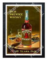 Historic Old Prentice Whiskey 1900 Advertising Postcard