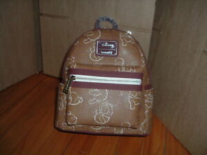 LOUNGEFLY DISNEY WINNIE THE POOH LINE ART MINI BACKPACK~ WITH TAGS~BRAND NEW~