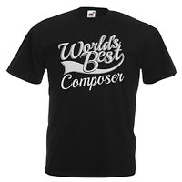 Composer Novelty Gift Adults Mens T Shirt 12 Colours Size S - 3XL