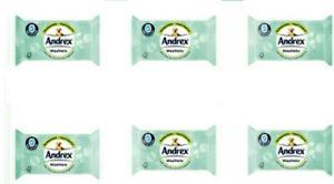 6 x Packs Andrex Washlets Aloe Vera (36 per pack) 216 Flushable Tissue Wipes