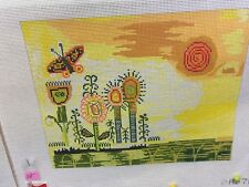needlepoint canvas  Birds of a Feather Bright and Cheerful