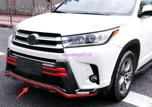 2PCS Front Rear Bumper Board Guard Protector Fit for Toyota Highlander 2018-2020