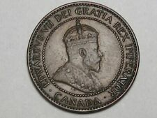 High-Grade 1906 Canadian Large Cent Coin (w/ Full Crown): Edward VII. CANADA