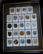 More details for very rare framed set of 1936 cats cigarette cards from john player