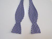 Countess Mara bow tie blue gingham cotton adjustable new