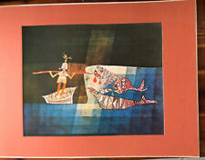 """1960s PAUL KLEE Lithograph """"Sinbad The Sailor"""" 24 X 18 Matted"""