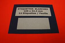 ETIQUETTES 9 Feuilles A4 = 126 Étiquettes Autocollantes Blanches 105 x 42,4 mm