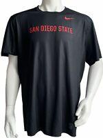 Nike Dri Fit San Diego State Aztecs Baseball T-Shirt Mens Size 2XL XXL