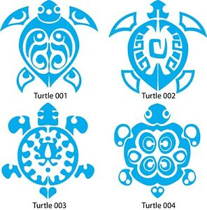 Seaside Sea Ocean Turtle wall decal vinyl sticker wall window vehicle Tribal